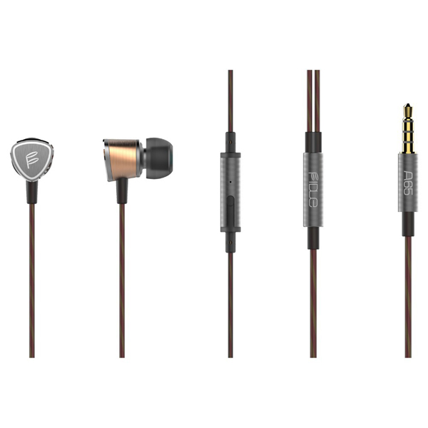 FIDUE A65 Hi-Fi Sound Isolating Earphones with Smartphone Controls & Mic