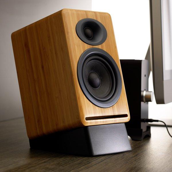 Image of Audioengine DS2 Desktop Speaker Stands Large Black