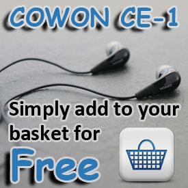 FREE COWON CE-1 EARPHONES