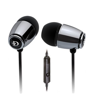 Dunu DN-18 (Hawkeye) Silver Impact Model Noise-Isolating IEM Earphones with Inline Mic (10mm Driver)
