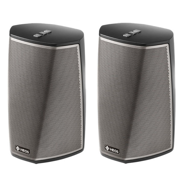 Image of Denon HEOS 1 HS2 Wireless Speaker DUO Pack (2 units) BLACK