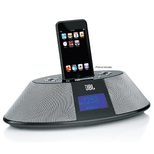 JBL On Time 200P High Performance Loudspeaker Dock for iPod iPhone with AM FM Radio Colour BLACK
