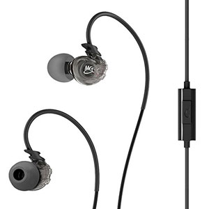 MEElectronics Sport-Fi� M3P Sweat Resistant In Ear Headphones with Memory Wire, Inline Microphone and Remote