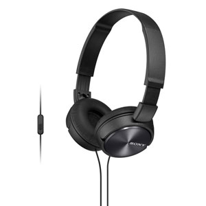 Sony MDR-ZX310 Foldable Heaphones with Smartphone Control & Mic - BLACK