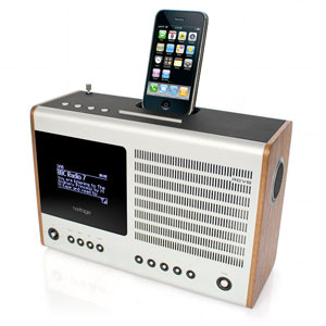 Revo Heritage G2 (New Version) DAB DABplus FM Wi Fi Radio and Docking Station (Walnut)