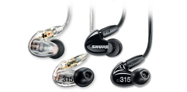 Shure SE315 Sound Isolating Earphones Colour CLEAR