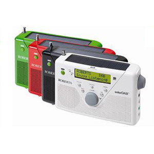 Roberts Solar 2 DAB FM Radio with Rechargeable Battery Pack Colour RED