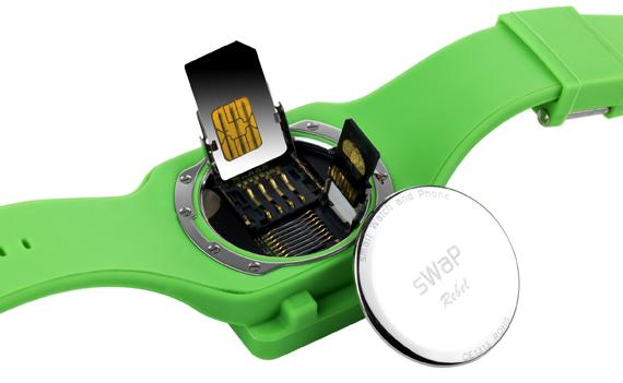 sWaP Rebel Sim Free Unlocked Mobile Phone Watch & Media Player with Camera