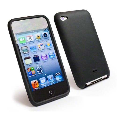 Tuff Luv Slim & Lite Silicone Case for Apple iPod Touch 4/4G Colour BLACK gadgets