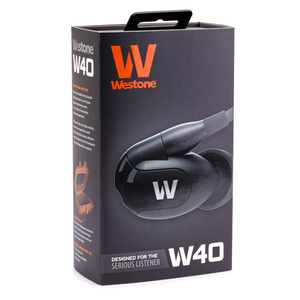 Compare retail prices of Westone W40 Quad Driver Earphones with built-in mic and removable cable to get the best deal online