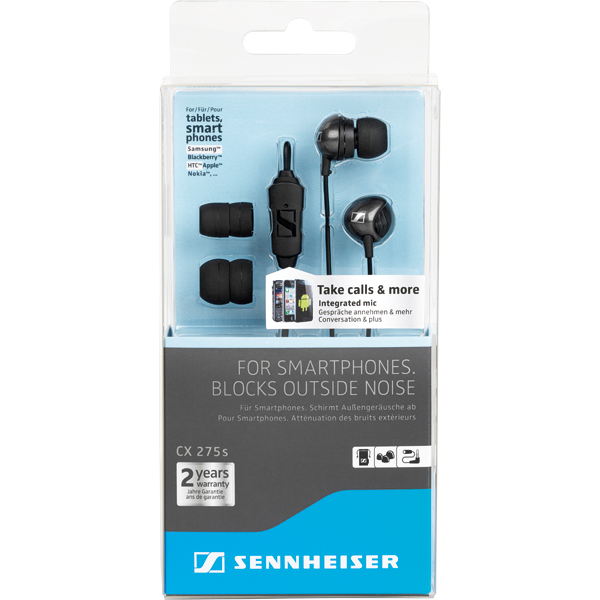 c4af310afce ... Inline Remote and Mic · Sennheiser CX 275S Universal Smartphone, In Ear  Earphones with I ...