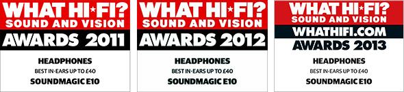 E10 What Hi Fi Awards