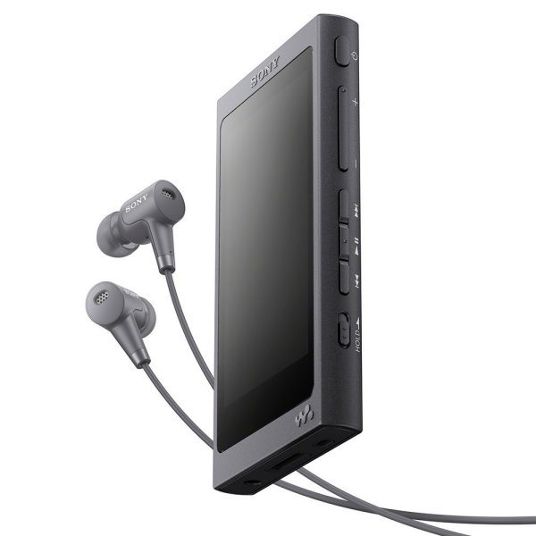 Image of Sony NW-A45HN High Resolution Audio Walkman with Noise Cancelling In-Ear Headphone Colour TWILIGHT RED